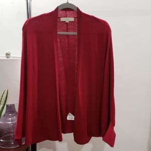 LOFT Open Front Cardigan with Billowy Sleeves